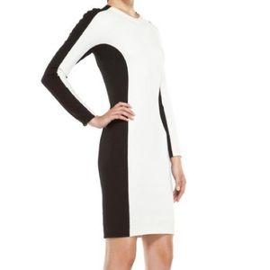 3.1 Phillip Lim Black & White Bodycon Shadow Dress